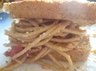 Dad's Spaghetti https://onegirlstasteonlife.wordpress.com/2010/08/26/dads-spaghetti/