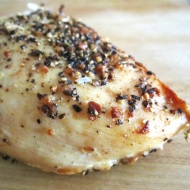 Simple Roast Chicken Breast https://onegirlstasteonlife.wordpress.com/2010/09/14/simple-roasted-chicken-breast/