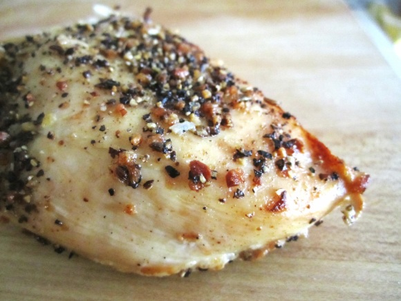Simple Roast Chicken Breast https://onegirlstasteonlife.wordpress.com/2010/09/14/simple-roasted-chicken-breast/