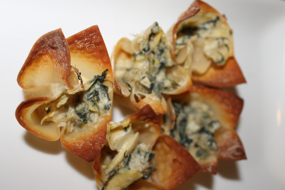 Party Food: Spinach Artichoke Wonton Cups | One Girl's Taste On Life