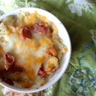 Twice Baked Potato Casserole https://onegirlstasteonlife.wordpress.com/2012/06/06/single-serve-twice-baked-potato-casserole/