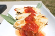 Pulled Chicken Quesadillas https://onegirlstasteonlife.wordpress.com/2012/08/06/pulled-chicken-quesadillas/