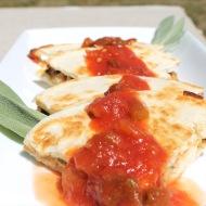 Pulled Chicken Quesadillas https://onegirlstasteonlife.wordpress.com/2012/08/06/pulled-chicken-quesadillas/
