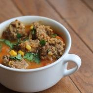 Albondigas Soup https://onegirlstasteonlife.wordpress.com/2012/10/22/three-little-soups-part-2/